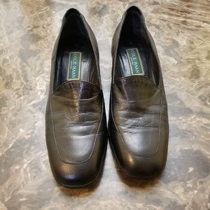 Cole Haan Black Leather Slip On Loafer  Size 9.5 B